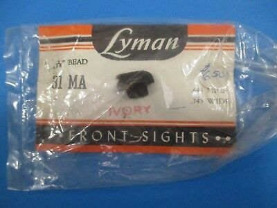 Vintage Lyman 31 MA Ivory Front Sight - NOS in Package S4109