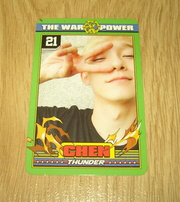 EXO K M 4th Repackage Album The Power of Music Chen B Photo Card Official