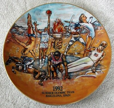 1992 Budweiser Summer Olympics Collectible Plate ~ Barcelona, Spain