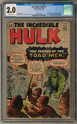 Incredible Hulk #2 CGC 2.0 (OW) 1st Appearance of Green Hulk