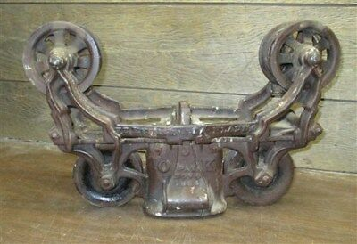 Myers OK Unloader Hay Trolley Cast Iron Barn Carrier Rustic Vintage Farm Tool e