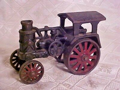 Vintage Old Antique Cast Iron Avery Steam Engine Tractor Locomotive Black Red