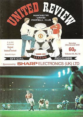 Manchester United v Oxford - FA Cup - 1988/89