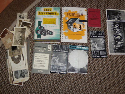 Antique Bulk Lot - 7 Photography Booklets And A Assorted Old Photos,tin Types +