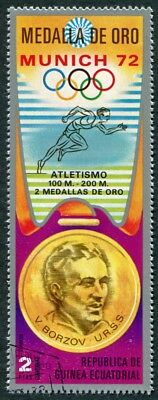 EQUATORIAL GUINEA 1972 2p used NG Olympic Medalists Munich V. Borzov c a2