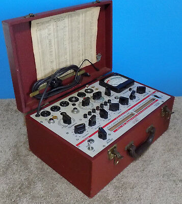 Hickok Model 600 Dynamic Mutual Conductance Tube Tester Working