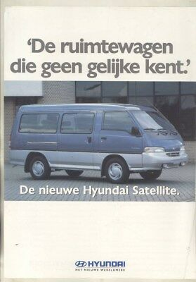 1997 ? Hyundai Satellite Van Brochure Dutch wy9698