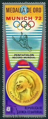 EQUATORIAL GUINEA 1972 8p used NG Olympic Medalists Munich M. Peters c a2