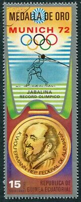 EQUATORIAL GUINEA 1972 15p used NG Olympic Medalists Munich K. Wolfermann a a2