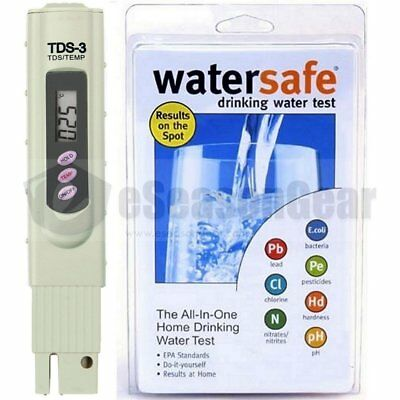 Watersafe WS-425B + TDS-3 Meter, City Water Test Kit, Bacteria Lead Pesticides