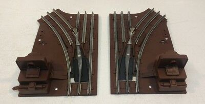 Pair Of Vintage Lionel O Gauge LH and RH Manual Switches Turnouts Train Track