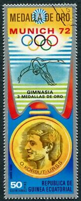 EQUATORIAL GUINEA 1972 50p used NG Olympic Medalists Munich O. Korbut AIR a a2