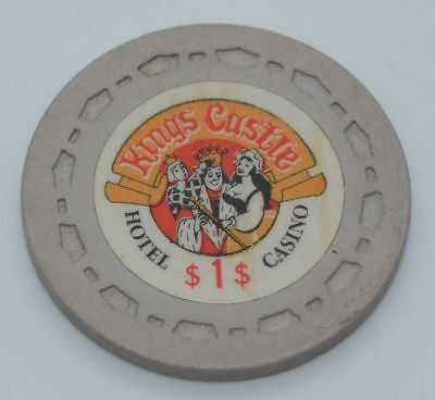 Kings Castle $1 Casino Chip Lake Tahoe Nevada Sm-Crown Mold 1970 FREE SHIPPING