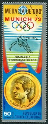 EQUATORIAL GUINEA 1972 50p used NG Olympic Medalists Munich O. Korbut AIR g a2