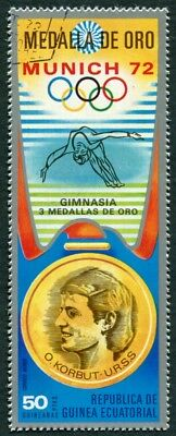 EQUATORIAL GUINEA 1972 50p used NG Olympic Medalists Munich O. Korbut AIR j a2