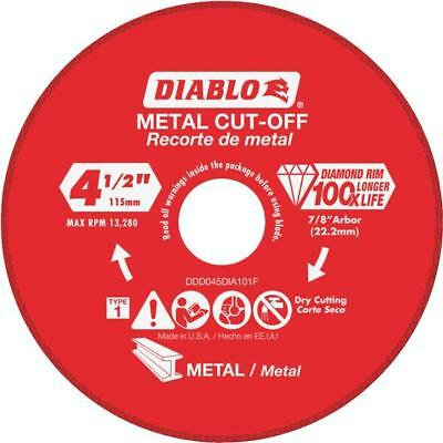 Diablo Steel Demon Type 1 4-1/2 In x 7/8 In Metal Cutting Diamond Cut-Off Wheel