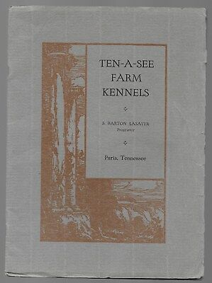 Ten-A-See Farm Kennels Pointers Dog Catalog Paris Tennessee Antique 1919