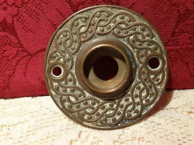 Antique Brass Or Bronze Round Door Knob Back Plate  ~ Old House Hardware
