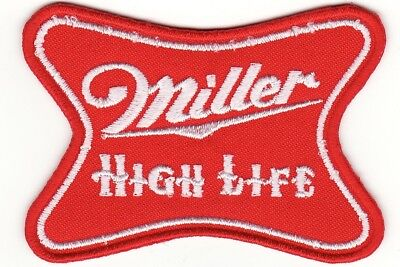"Miller High Life Beer 3"" Embroidered Iron On Patch *New*"