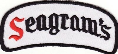 """Seagram's Whiskey 3 7/8"""" Embroidered Iron On Beer Patch *New*"""