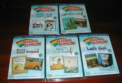 Lot of 5 Reading Rainbow Teaching Kids to Read PBS New Dvd