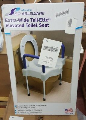 Maddak Inc. Tall-Ette Extra Wide Elevated Toilet Seat with Legs *NEW!*