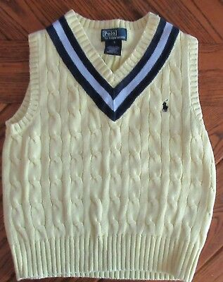 Ralph Lauren Polo Yellow Sweater Vest Boys Size 5