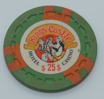 Kings Castle $25 Casino Chip Lake Tahoe Nevada Sm-Crown Mold 1970 FREE SHIPPING