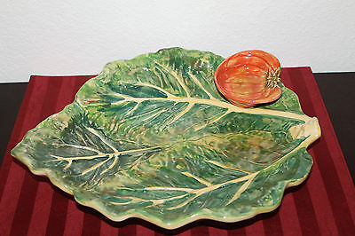 Beautiful Rare Hand Painted Italica Ars Made In Italy Large Serving Plate!