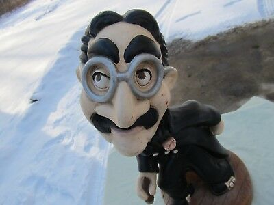 "1974 Groucho Marx 16"" Chalkware Statue / Tuscany Studios / Excellent Condition"