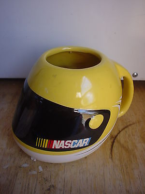 24oz Yellow Nascar Helmet Coffee Mug cup 2003