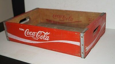 VINTAGE 1975 Coca Cola Advertising Wood Carrier Box Crate -TEMPLE CHATTANOOGA
