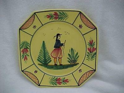 Quimper, France Breton Man Soleil 10-inch Dinner Plate No. 1 -- MINT and FAB