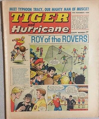 TIGER  and HURRICANE weekly British comic book November 30, 1968