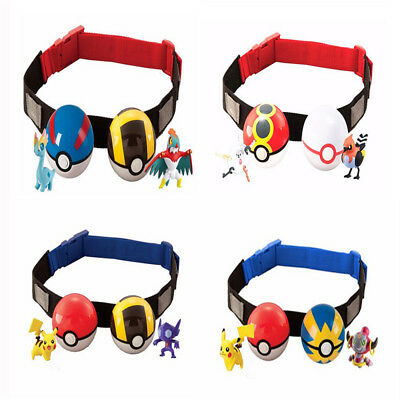 Cute Pokemon Clip Carry Kids Adjustable Poke Ball Belt Gift Pretend Play Game JT