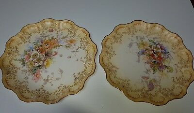 Tiffany & Co Antique Royal Doulton Cabinet Plates C1877 Signed Samuel Wilson