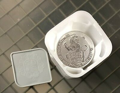 2016 Great Britain Silver Roll (10) Queen's Beasts Lion 2oz Coins