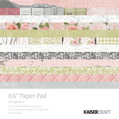 *A&B* KAISERCRAFT Scrapbooking Paper Pads Cottage Rose PP995 LIMITED STOCK