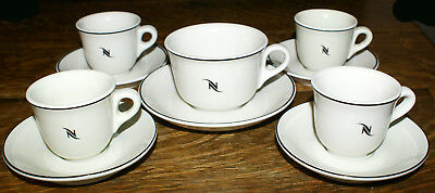 Nespresso Made in Italy & Germany * 4 Espresso Sets 1 Coffee Cup and Saucer
