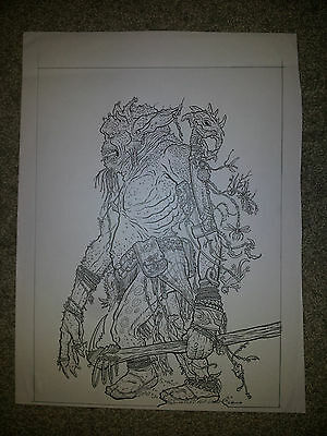 Geoff Darrow Magic the Gathering Goblin art SUPER DETAILED COVER QUALITY