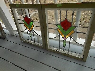 V-334A Lovely Older Leaded Stained Glass Window From England... 3 Available