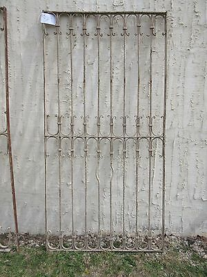 Antique Victorian Iron Gate Window Garden Fence Architectural Salvage Door #329