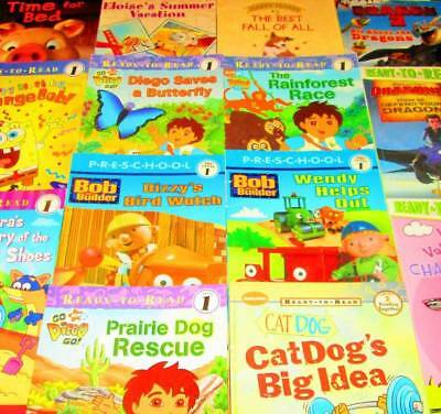 Ready to Read LEVELED READERS Lot of 20-Levels-Early, 1, 2 & 3- Dora, Bob the Bu