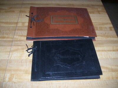 Pair of Antique Vintage  Photo Photograph Scrapbook  Albums