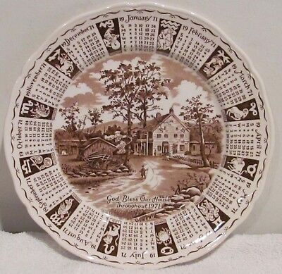 God Bless Our House Throughout 1971 (Collector Plate by Alfred Meakin, England)