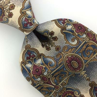 SPENCER LOWE US MADE ART NOUVEAU Gray Blue BROWN Silk Necktie Ties I6-40 New