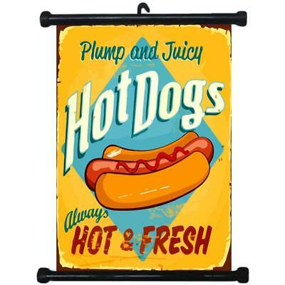 sp217100 Hot Dog Wall Scroll Poster For Shop Decor Display