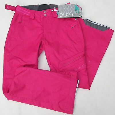 SURFANIC BLOOM LADIES EXTRA SMALL Sz 8 SKI SNOW PANTS TROUSER SALOPETTES PINK