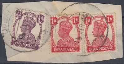 India stamps used in DUBAI, on piece [sr3267]