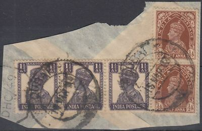 India stamps used in DUBAI, on piece [sr3269]